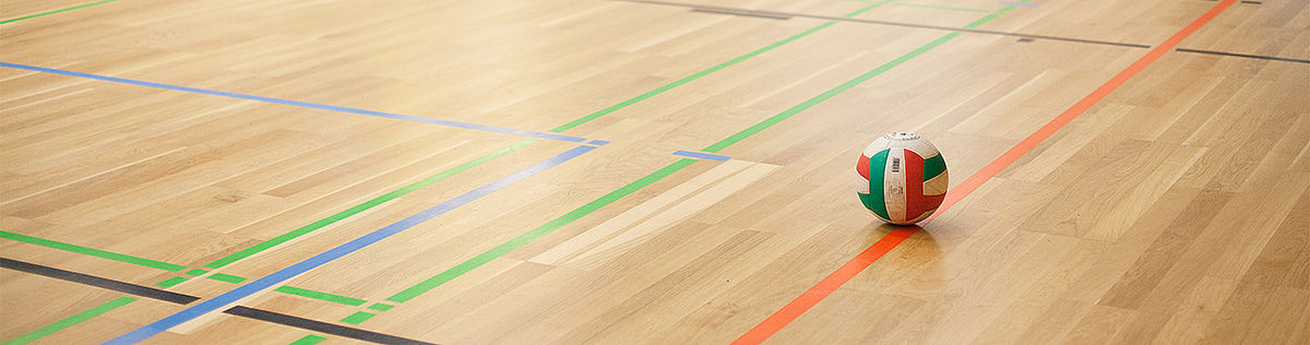 Volleyball auf dem Spielfeld