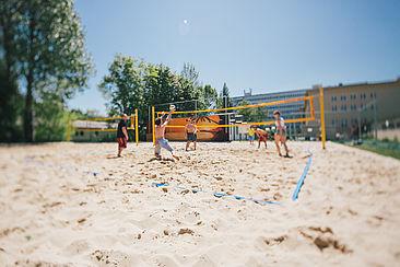 Beachvolleyball auf dem Campus Treskowallee